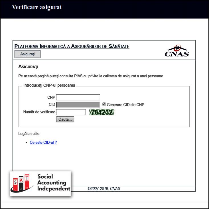 verificare asigurat CNAS verificare asigurat